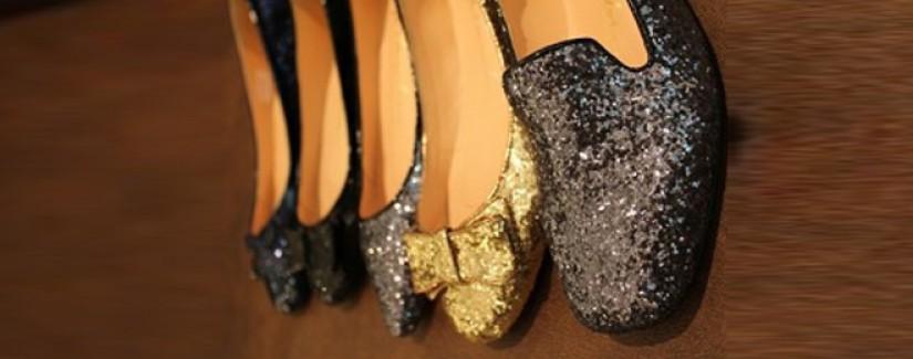 Beleza: Bolsas e sapatos paête