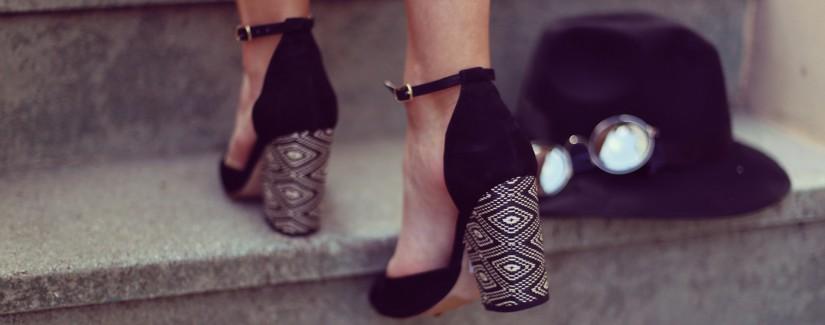 Sapato salto bloco